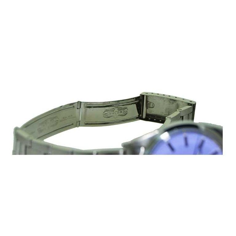 Rolex Steel Oyster Perpetual Date Lavendar Dial, circa 1970s 6