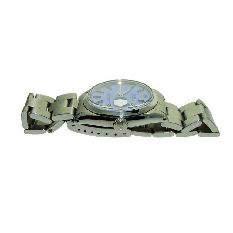 Rolex Steel Oyster Perpetual Date Lavendar Dial, circa 1970s 3