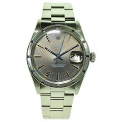 Rolex Steel Oyster Perpetual Date Thunderbird Bezel with Rare Dial, circa 1970s