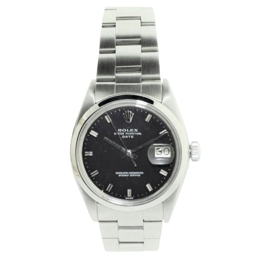 Rolex Steel Oyster Perpetual Date with Original Bracelet, late 1960's