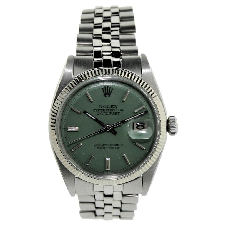 Rolex Steel Oyster Perpetual Datejust Ref 1601 Custom Dial, circa 1970s