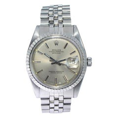Rolex Steel Oyster Perpetual Datejust Ref 1603 from Late 1960's