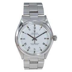 Rolex  Steel Oyster Perpetual Original White Roman Numeral Dial, 1970's