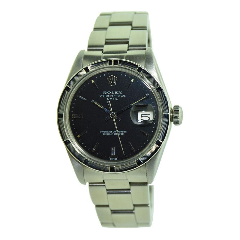 Rolex Steel Oyster Perpetual Date with Original Black Dial, Early 1970's