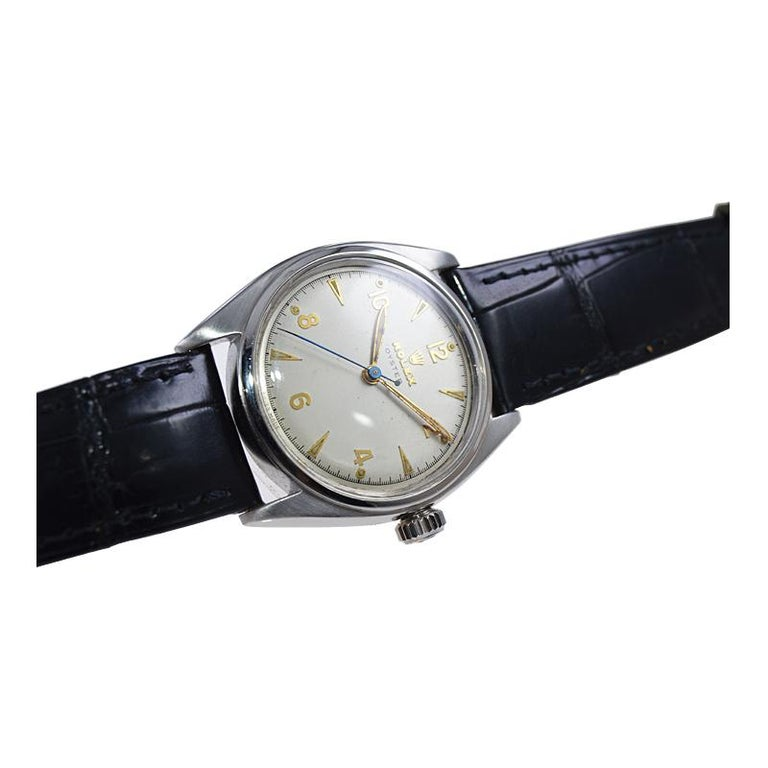 Rolex Steel Oyster with Rare Original Dial from 1946 For Sale 4