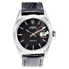 Rolex Steel Oysterdate Black Dial Watch, circa 1969