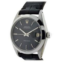 Rolex Steel Oysterdate Black Dial Watch, circa 1976