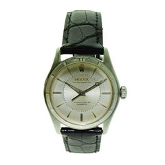 Rolex Steel Rare Model with Machined Bezel Super Oyster, circa 1951 or 1952