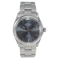 Rolex Steel Oyster Perpetual Air King with Original Charcoal Dial, Early 1970's