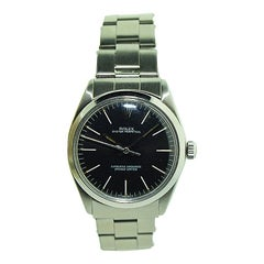 Rolex Oyster Perpetual Stainless Steel with Original Black Dial, Mid 1960's