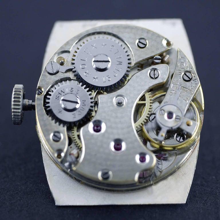 Rolex Sterling Silver Art Deco Tonneau Wristwatch, 1926 6