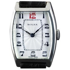 Rolex Sterling Silver Art Deco Tonneau Wristwatch, 1926