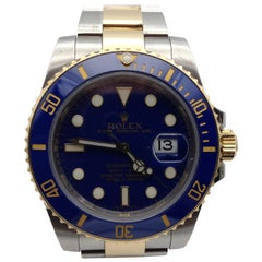 Rolex Submarimer Steel and Gold Blue Dial Men's Watch, Reference 116613