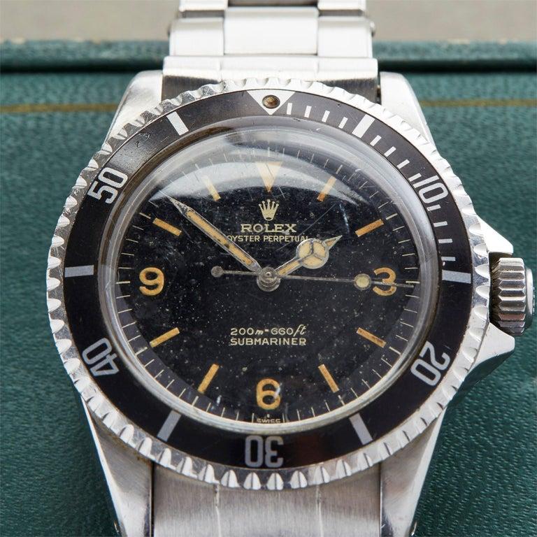 Men's Rolex Submariner 0 5513 Men Stainless Steel Gilt Explorer