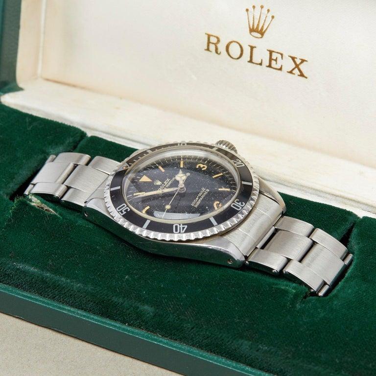 Rolex Submariner 0 5513 Men Stainless Steel Gilt Explorer