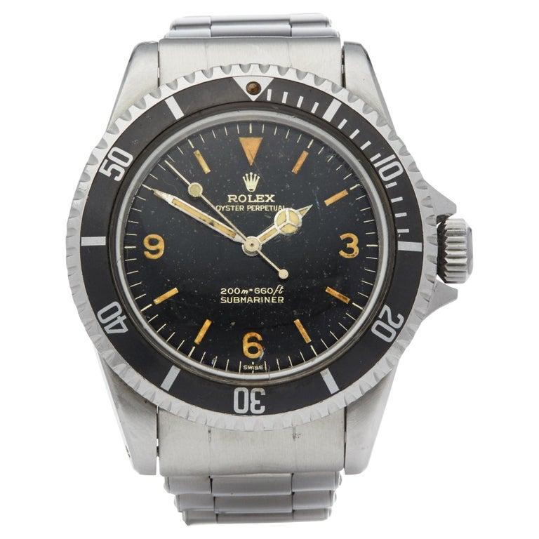 "Rolex Submariner 0 5513 Men Stainless Steel Gilt Explorer ""Kissing L"" Dial Watch For Sale"