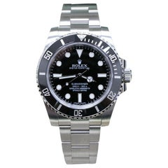 Rolex Submariner 114060 Black Ceramic Stainless Steel Box and Papers, 2017