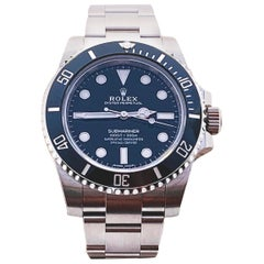 Rolex Submariner 114060 Black Dial Ceramic Bezel Box Papers Stickers