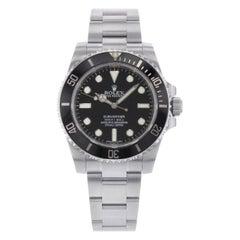 Rolex Submariner 114060 Black on Black No Date 4-Liner Automatic Men's Watch