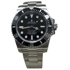 Rolex Submariner 114060 Ceramic Black Stainless Steel Box and Paper 2017