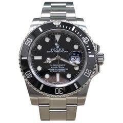 Rolex Submariner 116610 Black Ceramic Stainless Steel Box and Paper 2015
