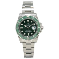 Rolex Submariner 116610, Green Dial, Certified and Warranty