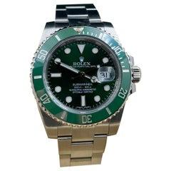 Rolex Submariner 116610 Green HULK Stainless Steel Box Booklet, 2014
