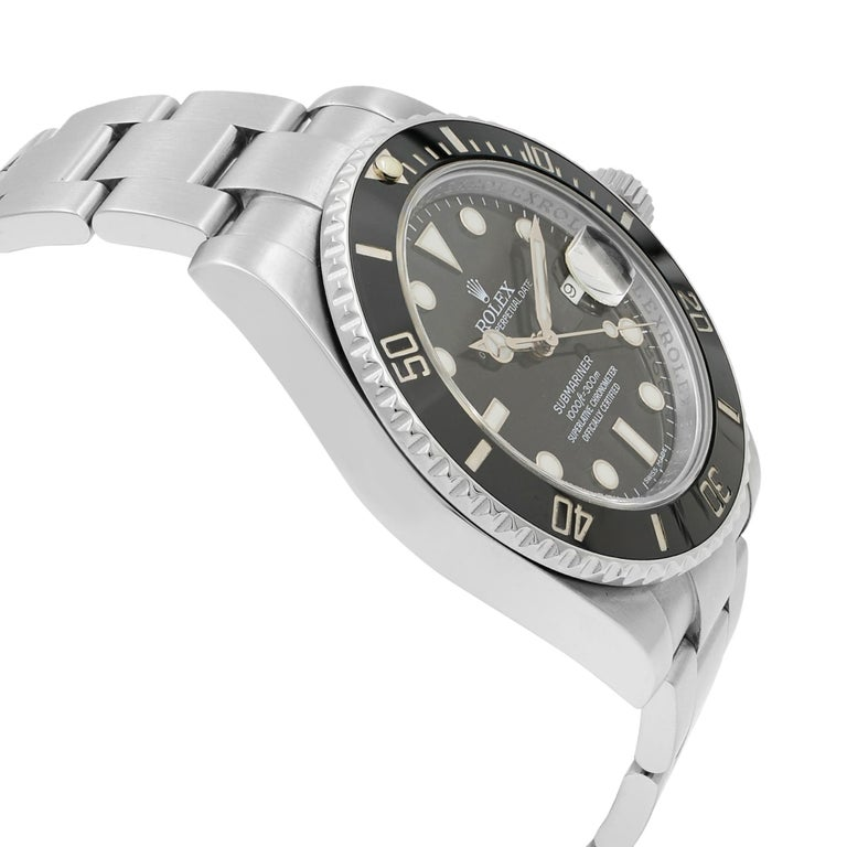 Rolex Submariner 116610LN Black Dial Stainless Steel Automatic Men's Watch In Excellent Condition For Sale In New York, NY