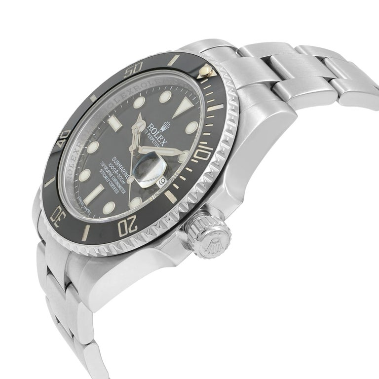 Rolex Submariner 116610LN Black Dial Stainless Steel Automatic Men's Watch For Sale 1