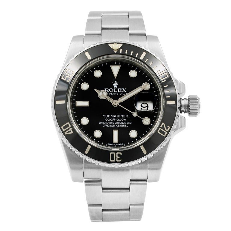 Rolex Submariner 116610LN Black Dial Stainless Steel Automatic Men's Watch For Sale