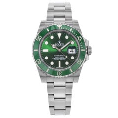 Rolex Submariner 116610LV Hulk Green Steel Ceramic Automatic Men's Watch