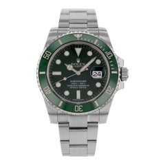 Rolex Submariner 116610V 'Hulk' Steel Ceramic Green Bezel Green Dial Men's Watch