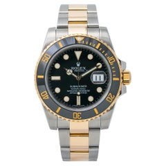Rolex Submariner 116613 18K Two Tone Automatic Mens Watch Box & Card 2011
