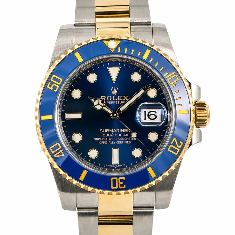Men's Rolex Submariner 116613, Blue Dial, Certified and Warranty For Sale