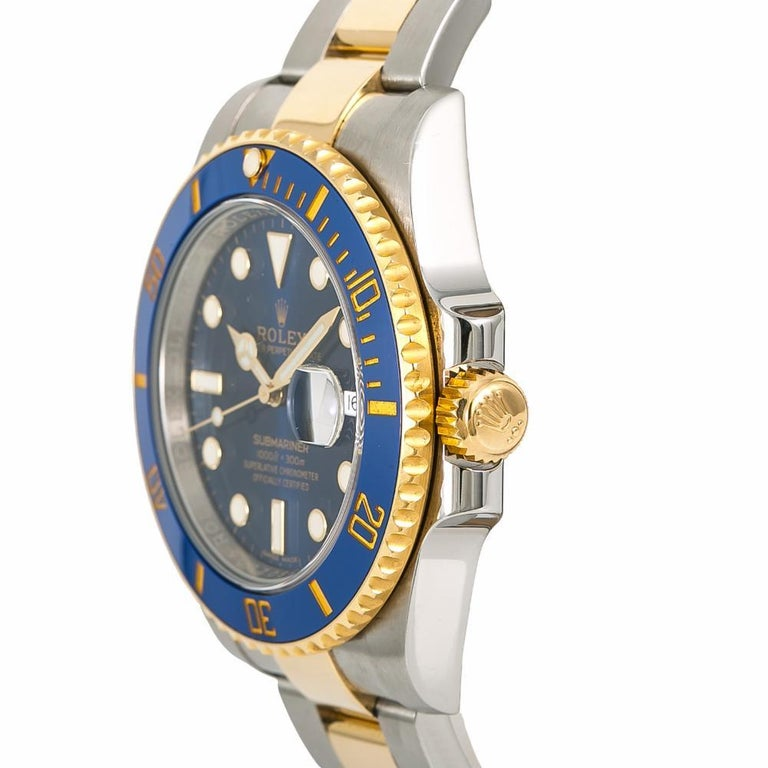 Rolex Submariner 116613, Blue Dial, Certified and Warranty For Sale 1