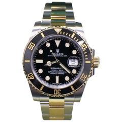 Rolex Submariner 116613 Black Ceramic 18K Yellow Gold & Steel Box & Papers 2016