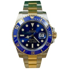 Rolex Submariner 116613 Blue Ceramic 18 Karat Gold Steel Box Papers, 2020