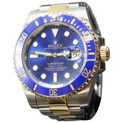Rolex Submariner 116613 Blue Ceramic 18 Karat Yellow Gold and Stainless Steel