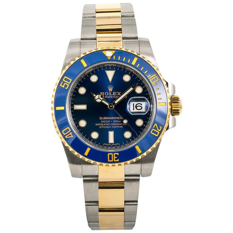 Rolex Submariner 116613, Blue Dial, Certified and Warranty For Sale