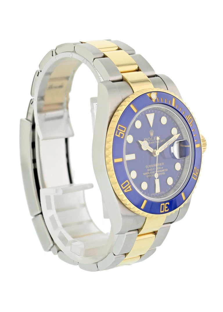 Rolex Submariner 116613 Men's Watch Box Papers In Excellent Condition For Sale In New York, NY
