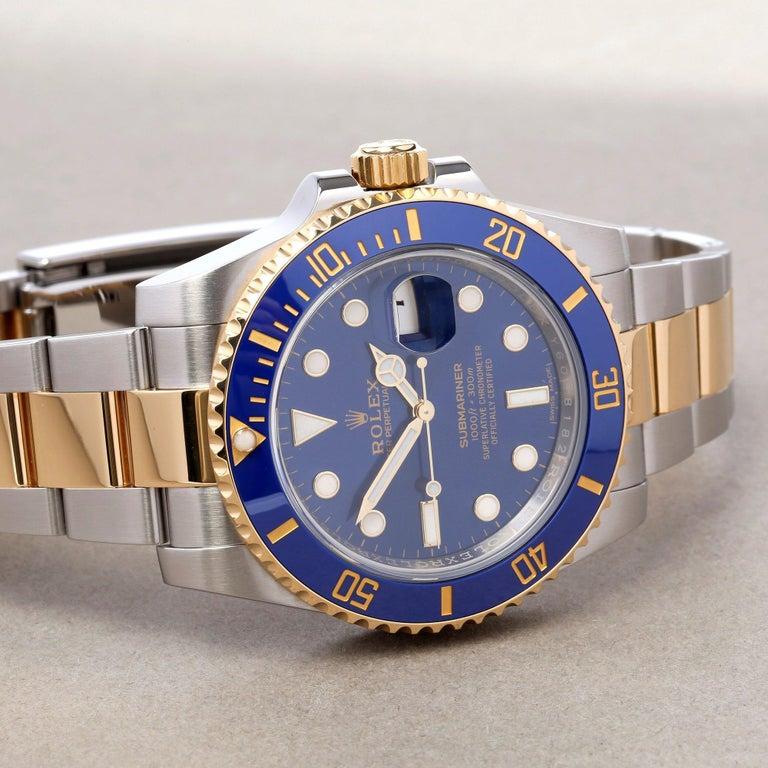 Rolex Submariner 116613LB Men's Yellow Gold & Stainless Steel Watch In Excellent Condition In Bishops Stortford, Hertfordshire