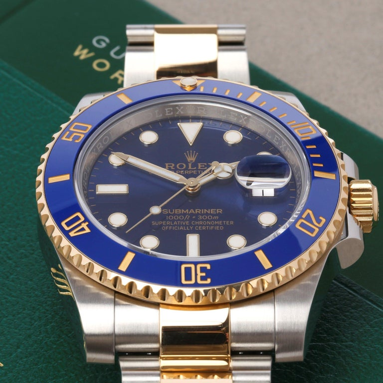 Rolex Submariner 116613LB Men's Yellow Gold & Stainless Steel Watch 3
