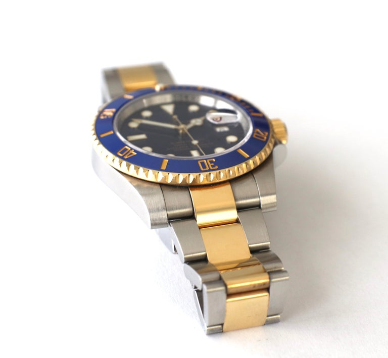 Rolex Submariner 116613LB Two-Tone Ceramic Blue Bezel, Blue Dial Box Papers For Sale 6