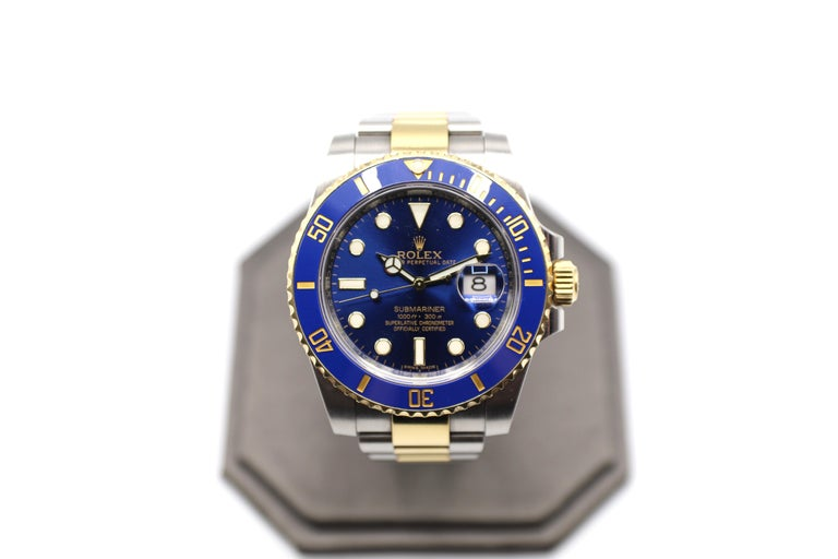 Rolex Submariner 116613LB Two-Tone Ceramic Blue Bezel, Blue Dial Box Papers For Sale 9
