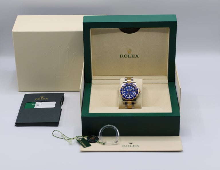 Rolex Submariner 116613LB Two-Tone Ceramic Blue Bezel, Blue Dial Box Papers For Sale 13