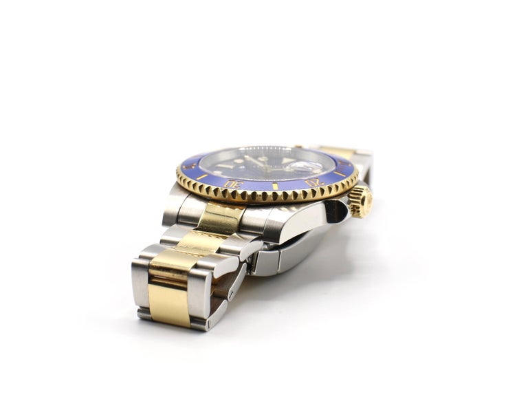 Rolex Submariner 116613LB Two-Tone Ceramic Blue Bezel, Blue Dial Box Papers For Sale 2