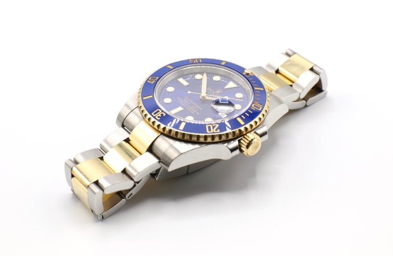 Rolex Submariner 116613LB Two-Tone Ceramic Blue Bezel, Blue Dial Box Papers For Sale 3
