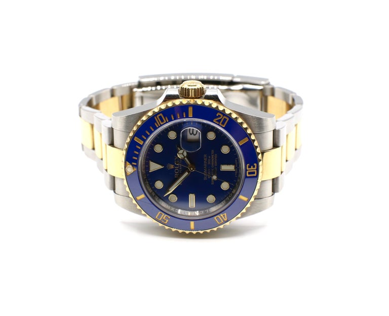 Rolex Submariner 116613LB Two-Tone Ceramic Blue Bezel, Blue Dial Box Papers For Sale 4