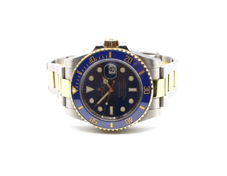 Rolex Submariner 116613LB Two-Tone Ceramic Blue Bezel, Blue Dial Box Papers For Sale 5
