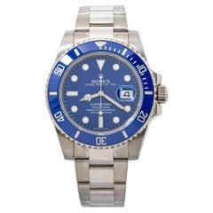 Rolex Submariner 116619 White Gold BlueSMURF Automatic Mens Watch 2014 Card